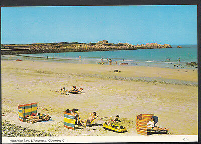 Channel Islands Postcard - Pembroke Bay, L'Ancresse, Guernsey  C1213