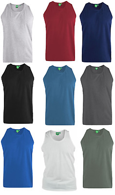 Mens vest gym top  muscle singlet tank top Sizes: 2XL to 6XL Duke D555 tee