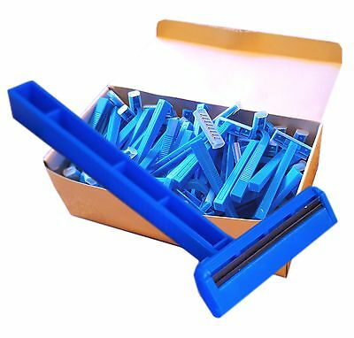Box of 100 Disposable Razors Single / Double Blade Tattoo Medical Prep