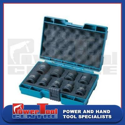 "Makita D-41517 9 Piece Impact Wrench Socket Set In Case 8-24mm 1/2"" Drive"