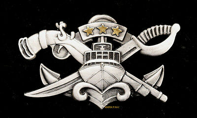 Naval Special Warfare Combatant Craft Crewman Master Badge Pin Up Us Navy
