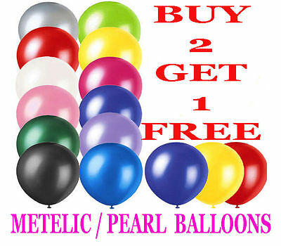 Latex PLAIN BALLOONS AIR & helium BALLONS Quality Party Birthday Wedding BALOONS
