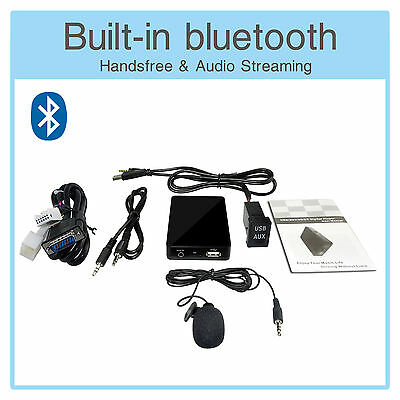 Bluetooth A2DP MP3 Adapter + USB/AUX Extension Cable VW RCD200 210 300 310 500