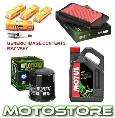 Honda Cbr600 Fx Fy 1999-2000 Motul 5000 Service Kit Spark Plug Oil Air Filter