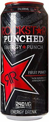Rockstar Punch Energy Drink, 16-Ounce Cans Pack of 24