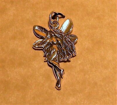 Sterling silver Art Deco Sterling silver Fairy pendant with jump ring