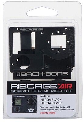Ribcage Air Backbone C/cs Mount Lens Mod Kit For Gopro Hd Hero4 Camera Black