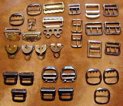 Lot Vintage Suspenders Buckles Steampunk Hipster Downtown Abbey Jewelry Crafts