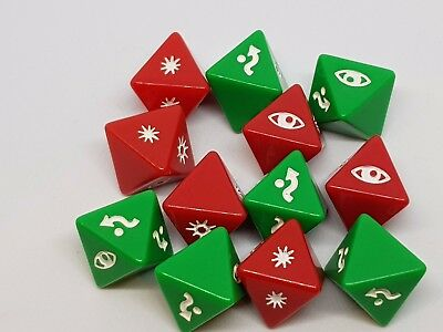 Star Wars X-Wing Miniatures Game Accessories Dice Singles Red or Green