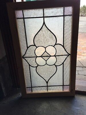 Sg 1206 Antique Textured Glass Window 18.25 X 29.5