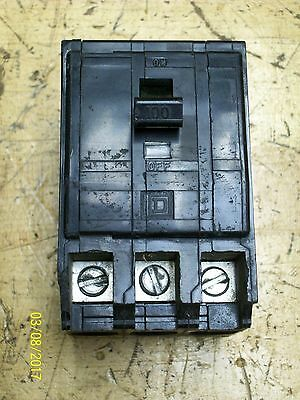 Square D 100A 100 Amp 3 Pole Circuit Breaker 240Vac Type Q0 , Q03100