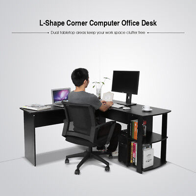 Wooden Space Saver Computer PC Table Desk Home Office Work/Station/ Furniture UK