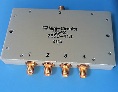ZBSC-413 MINI-CIRCUITS Power Splitter /Combiner 4 Way -0° 50 OHM 10 to 800 MHz