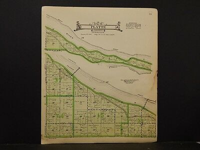 Nebraska, Dawson County Map, Platte Township,  1919  K5#64