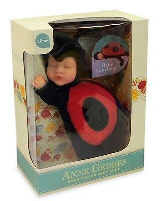 ANNE GEDDES 'Baby Ladybug' Ladybird Bean Filled Soft Doll - New in Box
