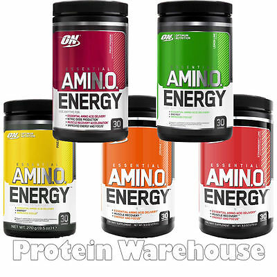 Optimum Nutrition Essential Amino Energy x 270g Bcaa All Flavours Of Aminos