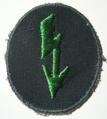 "WW2 German Army Panzergrenadier signals sleeve ""Blitz"" insignia"