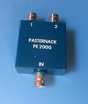 PE2000 PASTERNACK 2 Way BNC Power Divider From 2 MHz to 500 MHz Rated at 1 Watt