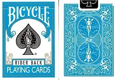Turquoise Rider Back Bicycle Playing Cards Poker Size Deck USPCC Limited New