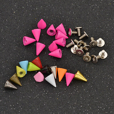 7mm Cone Bullet Studs Rivets Tree Leathercraft Rivet Bullet Spikes Spots 10 Pcs