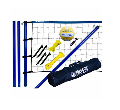 Volleyball Net Set Park & Sun Adjustable Height Easy Set Up Steel Ball Pump Bag