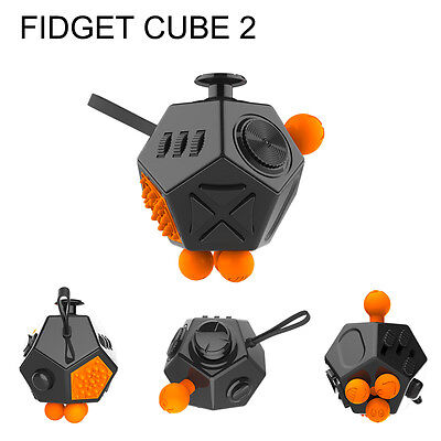 Fidget Cube 2 - Stress Relief Toy & Focus Tool For Adults & Children - UK Stock