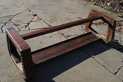 Large 70s / Mid Century Funky Solid Wood Coffee Table Base
