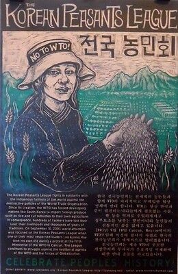 The Korean Peasants League | No to WTO | Orig. 2006 Political Poster