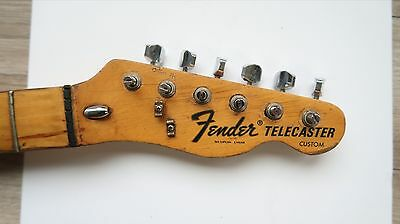 1973 Fender Telecaster Custom Guitar Neck Maple Vintage USA F tuners 3 Bolt 70's