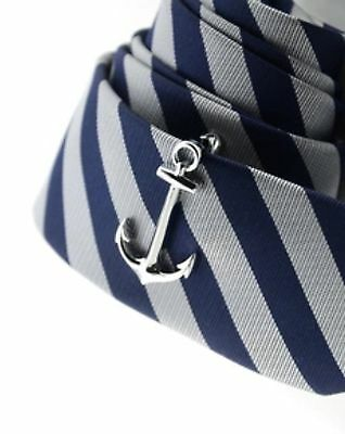 Anchor Tie Clip Bar - Slim Tie - Nautical Ship Sailing - Mens Novelty Gift