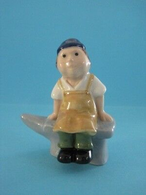 RARE WADE THE PEOPLE FROM WHIMSEY-ON-WHY ''BLACKSMITH GREY ANVIL'', 2003 *Mint*