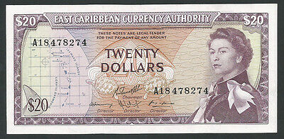 East Caribbean States ND (1965) P-15g AU 20 Dollars