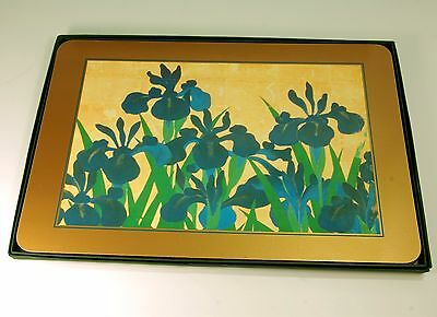 Set of 4  Place Mats by Jason for the Metropolitan Museum of Art,Japanese Iris