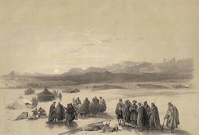 ROBERTS RA ORIGINAL PRINT OF: MOUNT SEIR from THE HOLY LAND 1849
