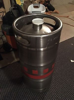 7.75 Gallon 1/4 Barrel Slim Stainless Steel Empty Beer Keg D Style Domestic Brew