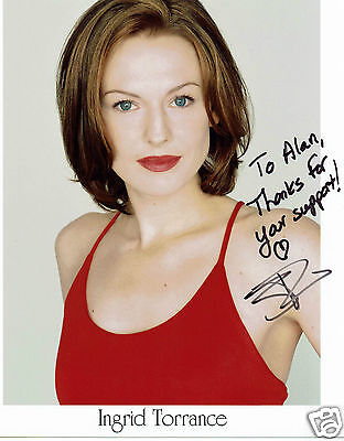 Ingrid Torrance Actress Once upon a time Hand Signed  Photograph 10 x 8