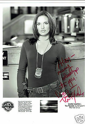 Tia Texada Actress Third Watch Hand Signed  Photograph 10 x 8