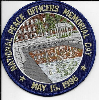 National Peace Officer Memorial Day May 15 1996 Police Week Dc Reflecting Pool