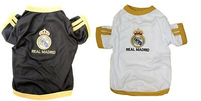 best loved ccf27 cd7f8 NEW PET APPAREL Real Madrid FC Dog Jersey Soccer Football T Shirt Clothes  Vest