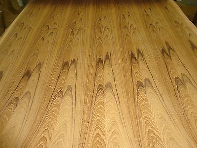"""Teak wood veneer sheet 24"""" x 96"""" with paper backer 1/40th"""" thickness """"A"""" grade"""