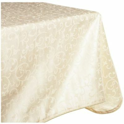 "New Lenox Opal Innocence 60"" X 102"" Oblong Tablecloth- Ivory"