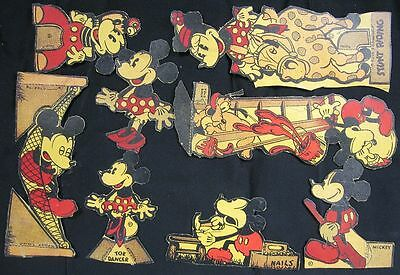 Large Collection of 1935 Box Premium Toys Corn Flakes Mickey Mouse & Pals~NEAT