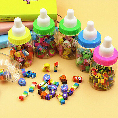 New 25pc/Lot Mini Cute Cartoon Rubber Pencil Eraser for Children Stationery Gift