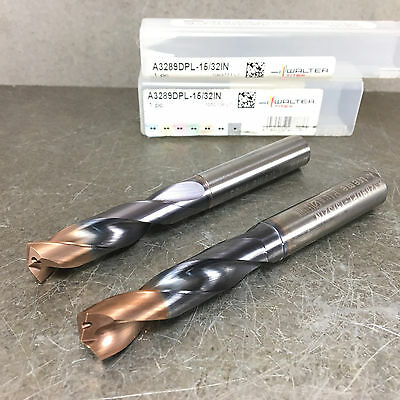 """NEW Walter Titex 15/32"""" Solid Carbide Drill, Coolant Fed, A3289DPL-15/32IN"""