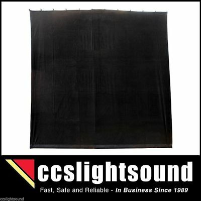 Bravo 4M X 4M Black Cotton Velvet Stage Curtain - Flat _ 44B