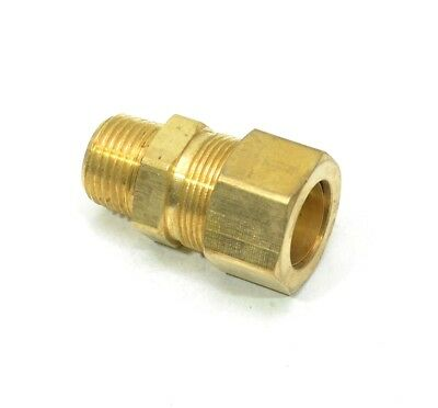 "3/4"" Tube OD Compression to 1/2"" Male NPT Fitting Adapter Connector"