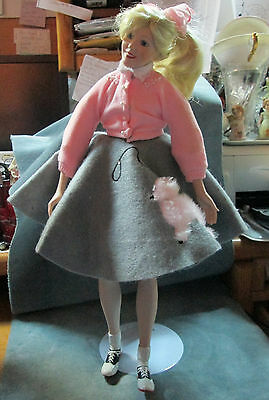 1991 Peggy Sue Composition Plastic Doll 1950's Pink Poodle Skirt By Roger Akers