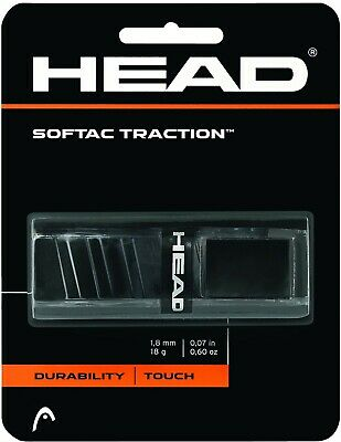 Head Dual Softac Traction Replacement Grip Tennis Grip Black