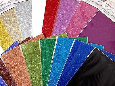 2Pk A5 Glitter Paper - Scrapbooking Card Making Acid Free Craft Fun Kids Create