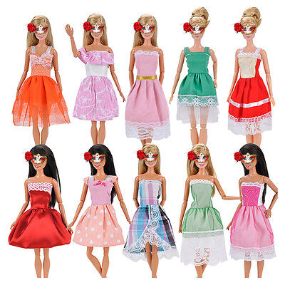 5PCS Fashion Princess Party Dresses Wedding Outfits Gown For Barbie Doll Clothes